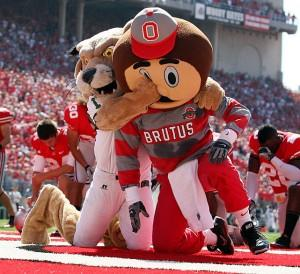 Click on this picture for hilarious real mascot fights.